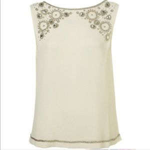 TOPSHOP Chiffon Embellished Top